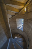Spiral stairs, leading to the top of Notre Dame de Paris Stock Photo