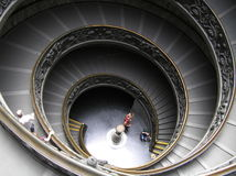 The spiral stairs royalty free stock photos