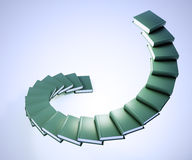 Spiral stairs made out of books Royalty Free Stock Photos