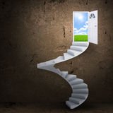 Spiral stairs and magic doors Stock Photography