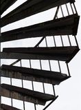 Spiral stairs on the outside of a building royalty free stock image