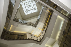 Spiral stairs. Part spiral staircases in the administrative building Royalty Free Stock Photo