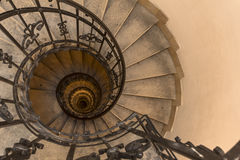 Spiral Stairs. This picture was captured at a building in Budapest, Hungary Stock Image