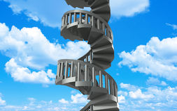 Spiral stairs to heaven Stock Image