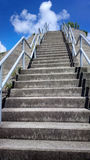 Spiral stairs to the sky Royalty Free Stock Photo