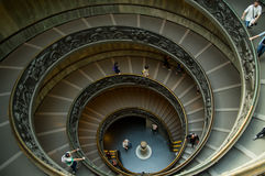 Spiral stairs in the Vatican Museums Royalty Free Stock Images
