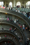 Spiral stairs in the Vatican Museums Stock Photo