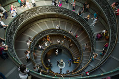 Spiral stairs in the Vatican Museums Royalty Free Stock Image