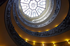 Spiral stairs of the Vatican Museums Stock Photography