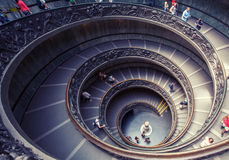 Spiral stairs of the Vatican Museums Stock Images