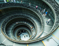 Spiral stairs of the Vatican Museums Stock Photo