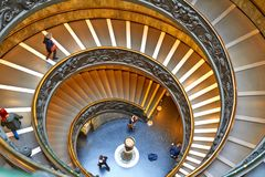 Spiral stairs of the Vatican Museums in Vatican stock photo