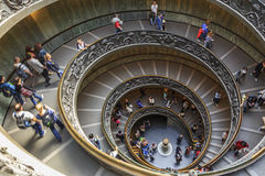 Spiral stairs in the Vatican Museums. Old spiral stairs in the Vatican Museums Stock Photo