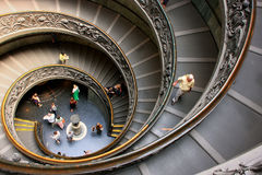 Spiral stairs in Vatican Museums, Rome Royalty Free Stock Photo