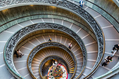 Spiral Stairs of the Vatican Museums in Vatican, Italy Stock Photo
