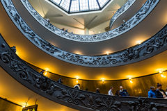 Spiral Stairs of the Vatican Museums in Vatican, Italy Stock Image