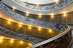 Spiral stairs of the Vatican Museums in Vatican, Rome Royalty Free Stock Photography