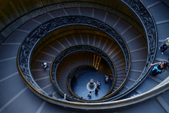 Spiral stairs of the Vatican Museums in Vatican, Rome, Italy Royalty Free Stock Photos