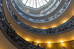 Spiral stairs of the Vatican Museums in Vatican in Rome. Royalty Free Stock Images