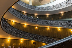 Spiral stairs of the Vatican Museums in Vatican in Rome. Stock Photos