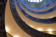 Spiral stairs of the Vatican Museums in Vatican, Rome. Italy royalty free stock images