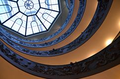 Spiral stairs of the Vatican Museums in Vatican, Rome Royalty Free Stock Photo