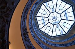 Spiral stairs of the Vatican Museums, Vatican. Spiral stairs of the Vatican Museums in Vatican, Rome, Italy Stock Photography