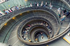Spiral stairs of the Vatican Museums in Vatican Royalty Free Stock Images