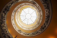 Spiral stairs in Vatican. Old spiral stairs in the Vatican Museums Stock Images