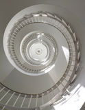 Spiral stairs. View from below Stock Images