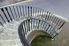 Spiral Stairway. With oranamental wrought iron railings. Poole, Dorset,1761 royalty free stock images