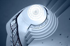 Spiral stairway cas Royalty Free Stock Photos