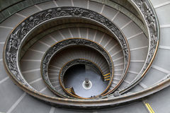 Spiral stairway. At the entrance of Vatican Museum Royalty Free Stock Photo