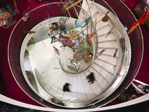 Spiral stairway in Fortnum & Mason Royalty Free Stock Photos