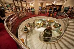 Spiral stairway in Fortnum & Mason Stock Images