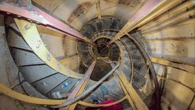 Spiral stairway. Hawaiian diamond head bunker inside spiral stairs Stock Photos