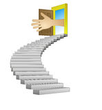 Spiral stairway leading to human help concept vector Stock Photography
