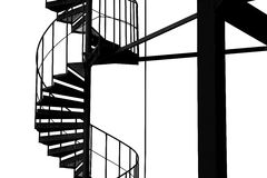 Spiral stairway structure. Royalty Free Stock Images