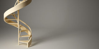 Spiral stairway in studio. Stock Photo