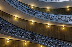 Spiral stairway of the Vatican Museums. Rome, Italy. Famous spiral stairway of the Vatican Museums Stock Photo