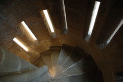 Spiral Stairway, Wallace Monument stock photography