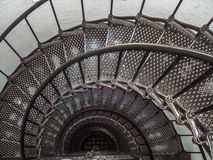 Spiral stairwell. The spiral steel staircase of a lighthouse Royalty Free Stock Image