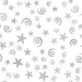 Spiral and star pattern. Seamless vector background royalty free illustration
