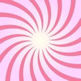 Spiral starburst, sunburstbakgrundsuppsättning Linjer band med piruetten, roterande distorsionseffekt Arkivfoto