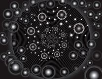 spiral stjärnor Royaltyfri Bild