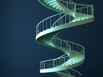Spiral strairs isolated stock illustration