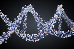 Spiral strand of DNA Royalty Free Stock Photo