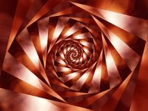 Spiral Stripes Background. A brown and white metallic looking spiral texture swirl stock image