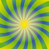 Spiral sun Royalty Free Stock Image