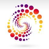 Spiral sun Stock Image